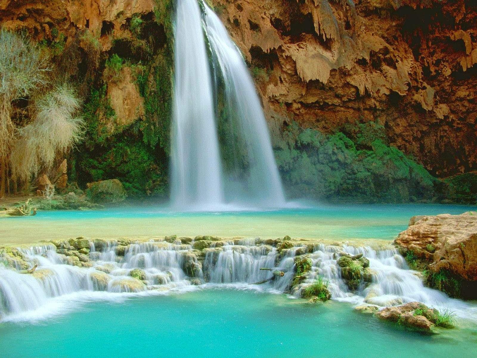 Download Beautiful 3D Nature WaterFall HD Wallpaper 1600x1200