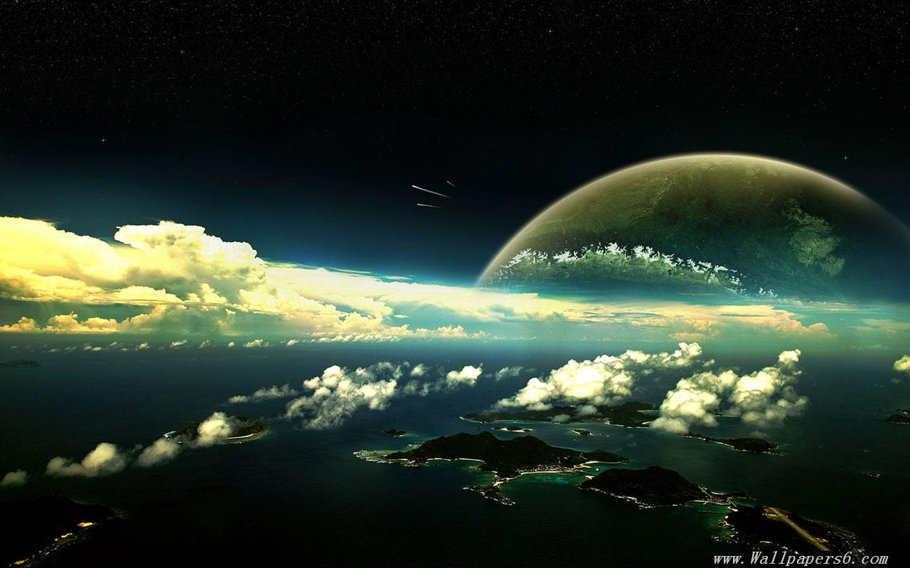 Wallpaperspanoramic view space planets universe wallpapers 1280x800
