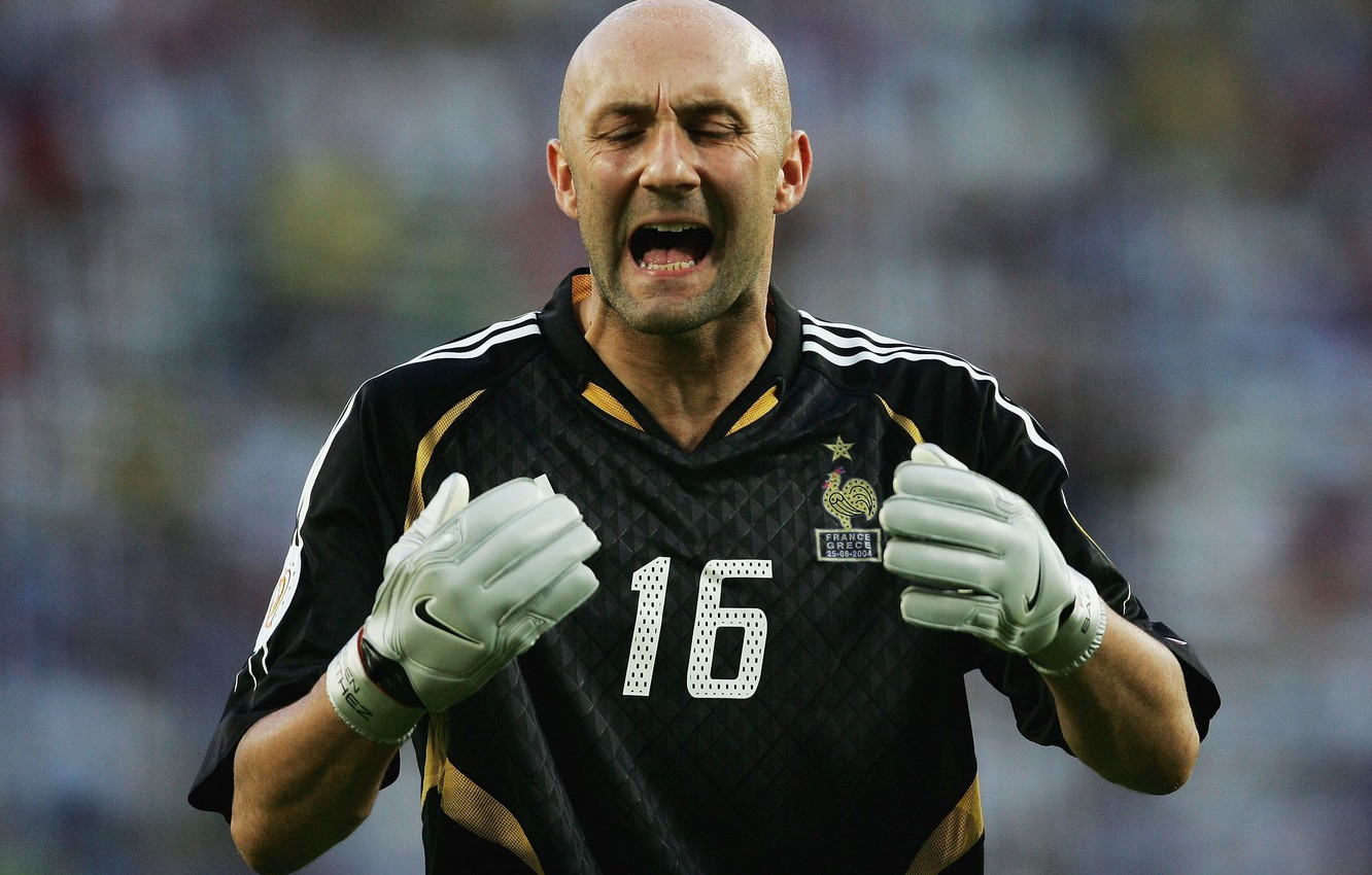 Wallpaper bald the French goalkeeper Fabien Barthez images for 1332x850