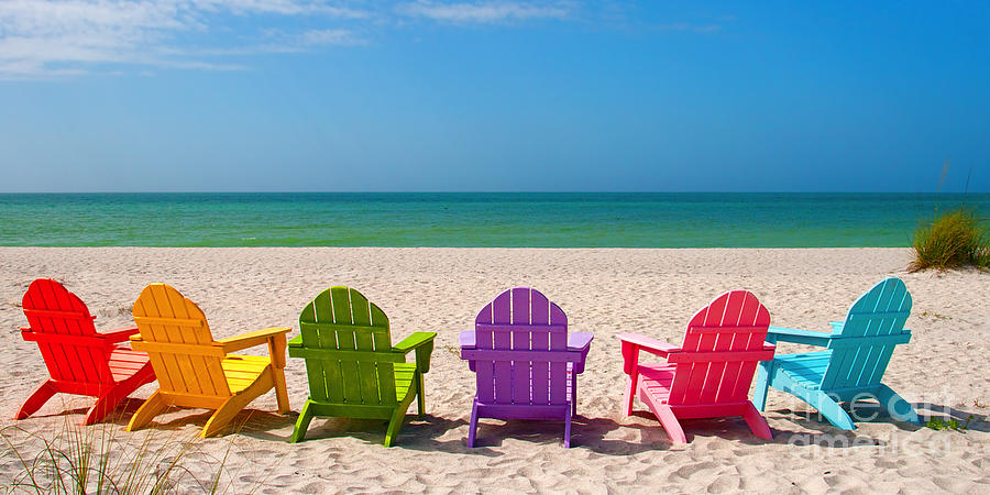 Beach Chair Desktop Wallpaper: Adirondack Chairs On Beach Wallpapers
