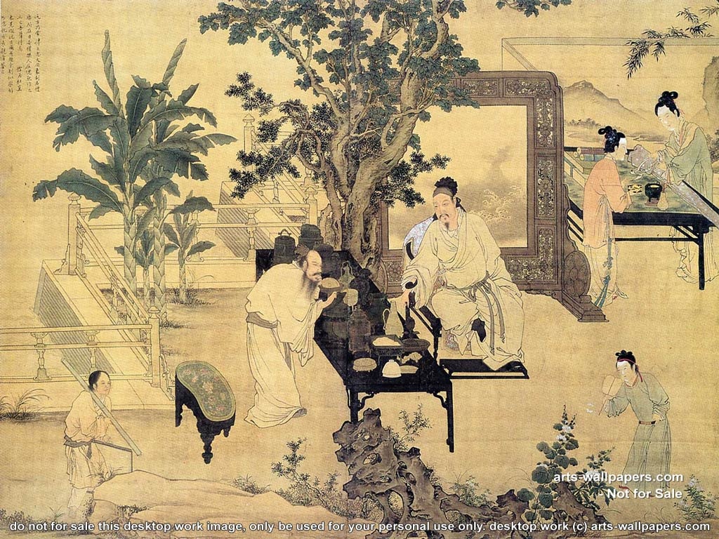 chinese art wallpapers all desktop works by arts wallpapers com 1024x768