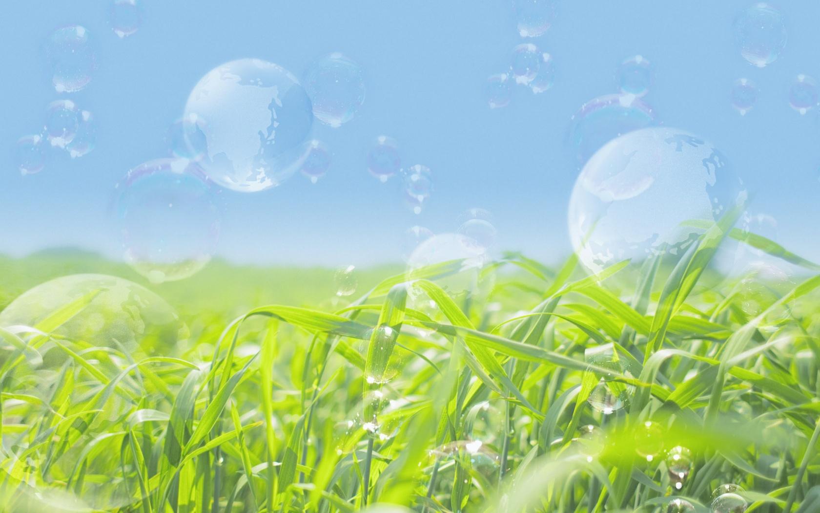 1680x1050 Transparent bubbles desktop PC and Mac wallpaper 1680x1050