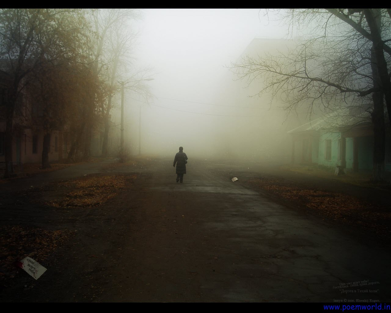 Sad Man Walking Alone 1280x1024