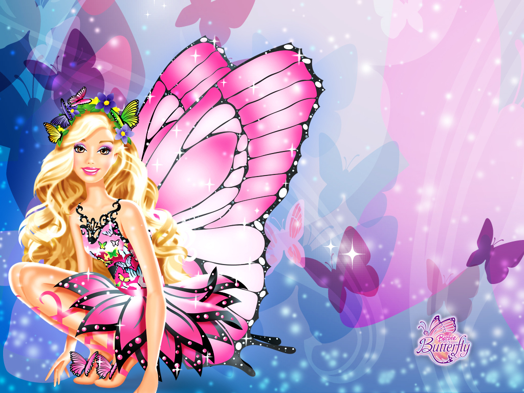 Related Wallpaper For Barbie Butterfly Wallpaper High Resolution Stock 1024x768