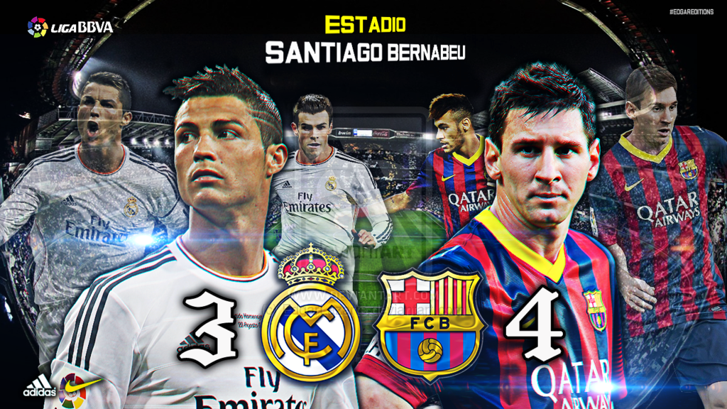 Real Madrid vs Barcelona Custom Wallpaper [HD] by EdgarLazarte on 1024x576