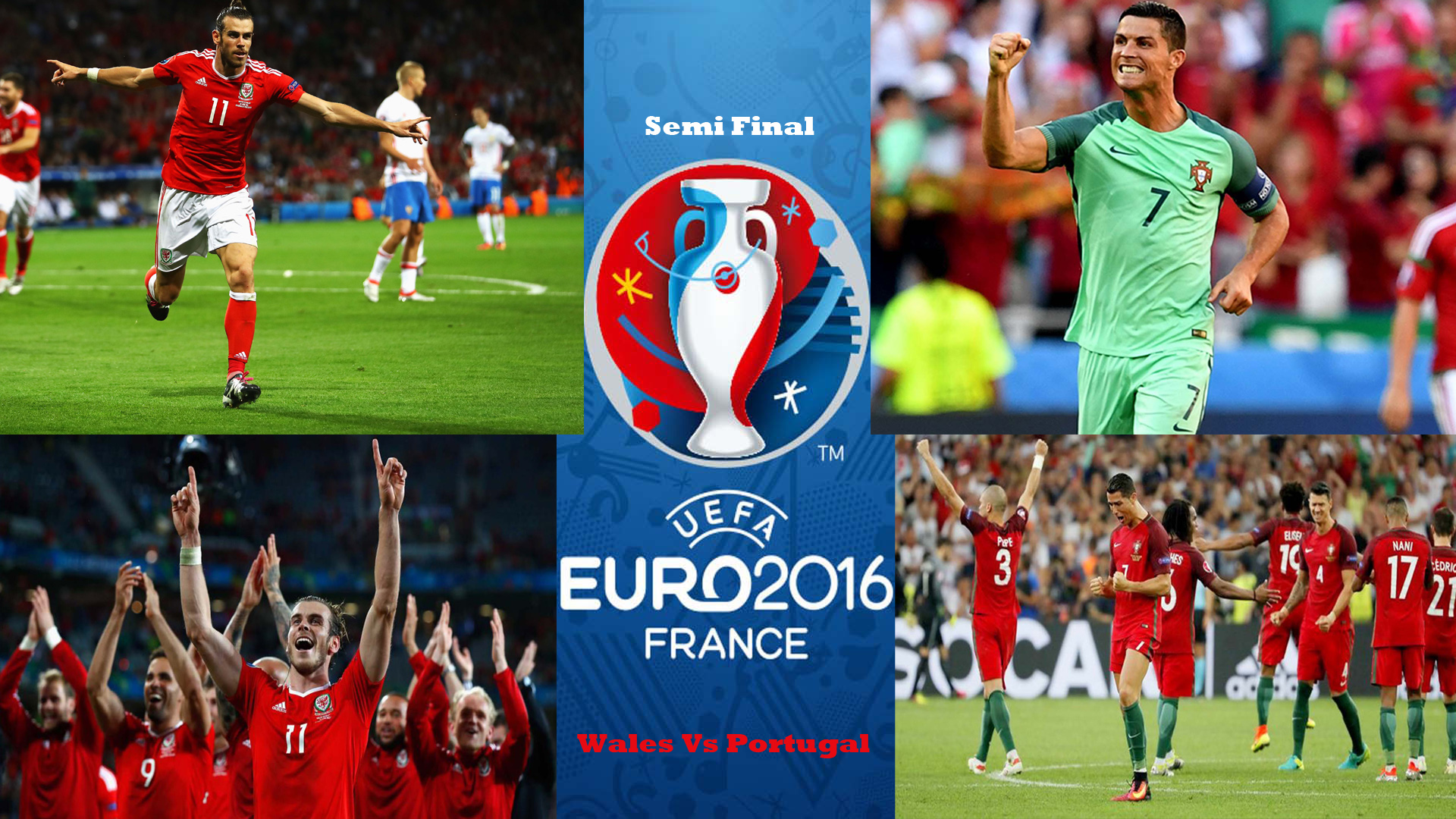 Euro 2016 Semi Final Wales Vs Portugal HD Wallpaper 1920x1080
