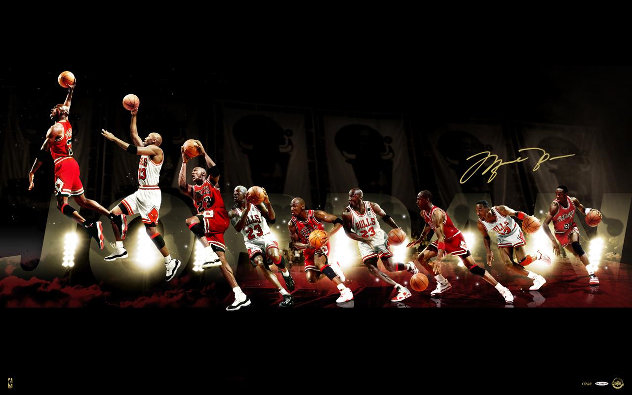 Chicago Bulls Michael Jordan Dunking 1280x800