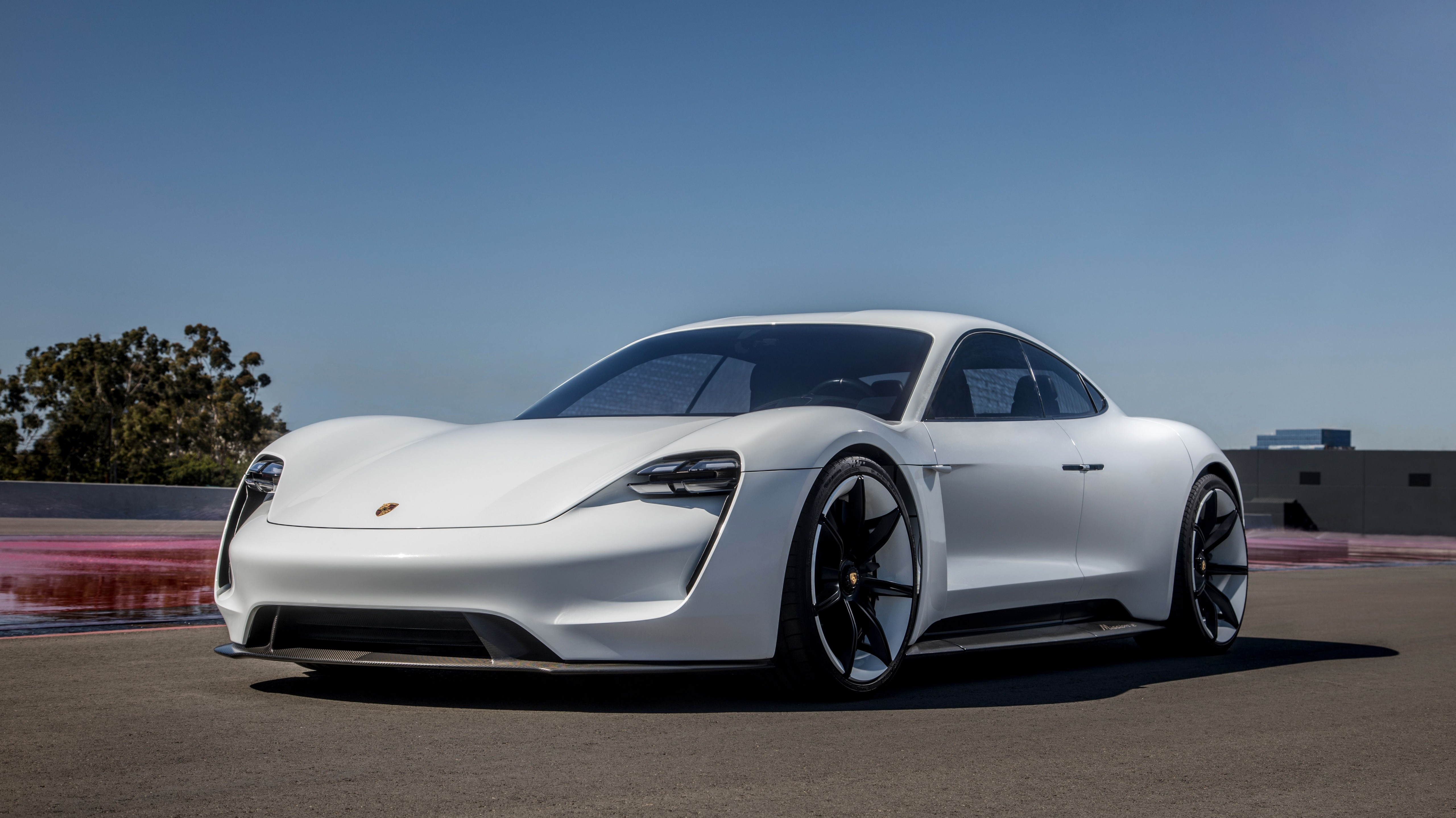 Wallpaper Porsche Taycan Electric Car supercar 2020 Cars 4K 5120x2880