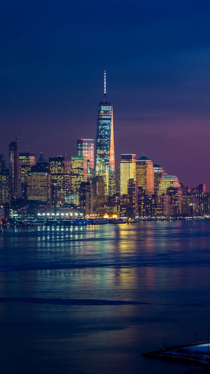 Download 720x1280 Wallpaper New York Skyscraper Cityscape City 720x1280