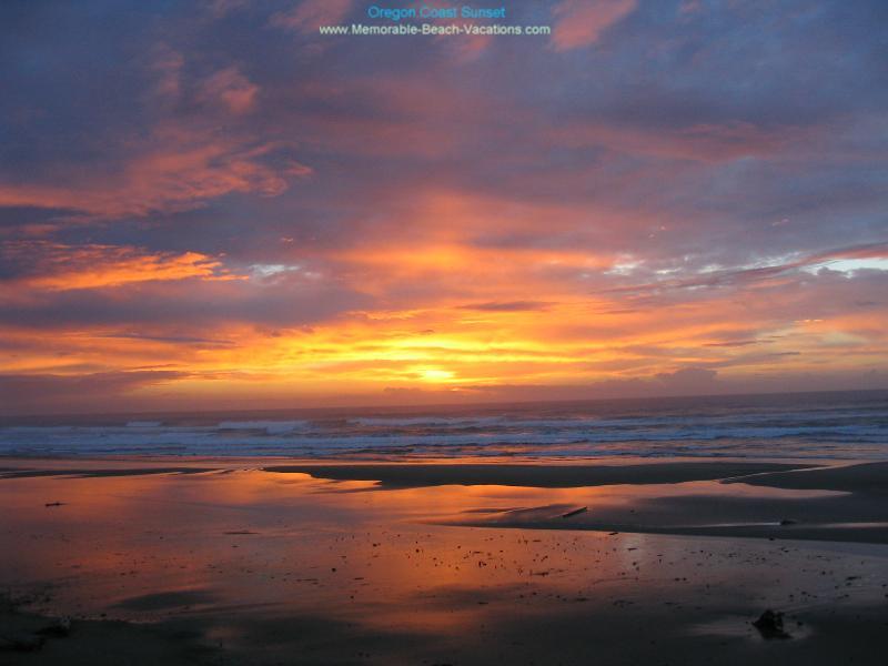 Oregon Coast Sunset   a great Oregon Beach Sunset Picture 800x600