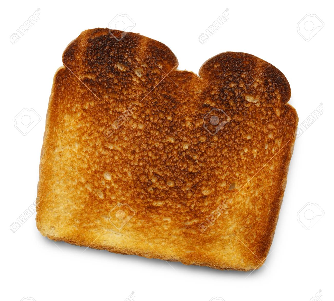 Piece Of Burnt Toast Isolated On White Background Stock Photo 1300x1171