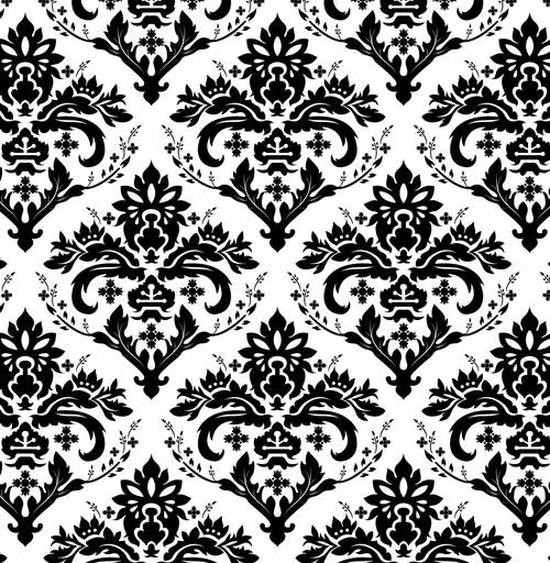 European background of black and white pattern vector Vector 500x512