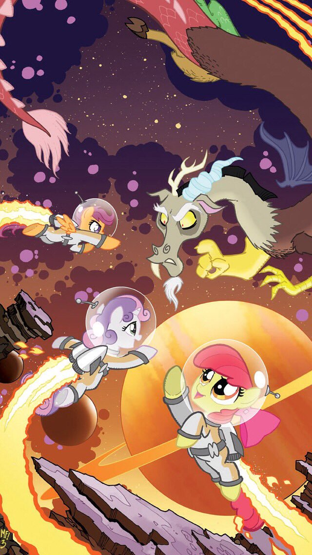 Archangel on Twitter CMC and Discord in Space by background pony 640x1136