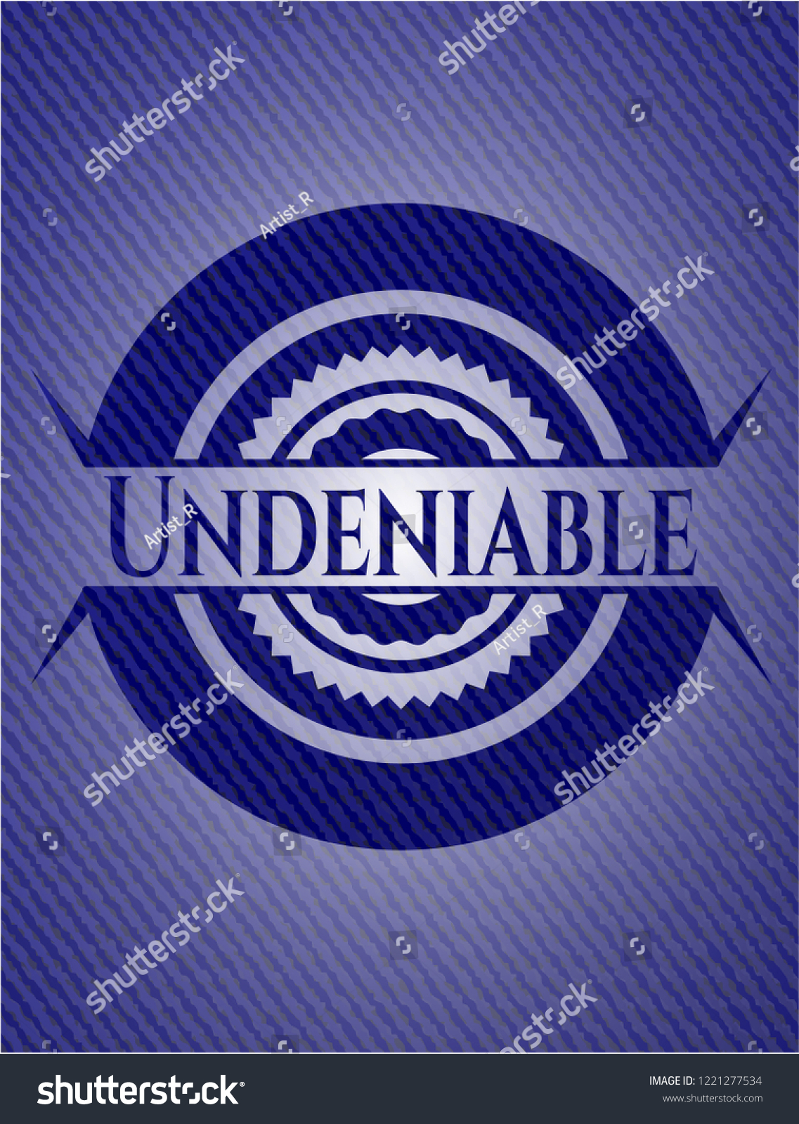 Undeniable Jean Background Stock Vector Royalty 1221277534 1137x1600