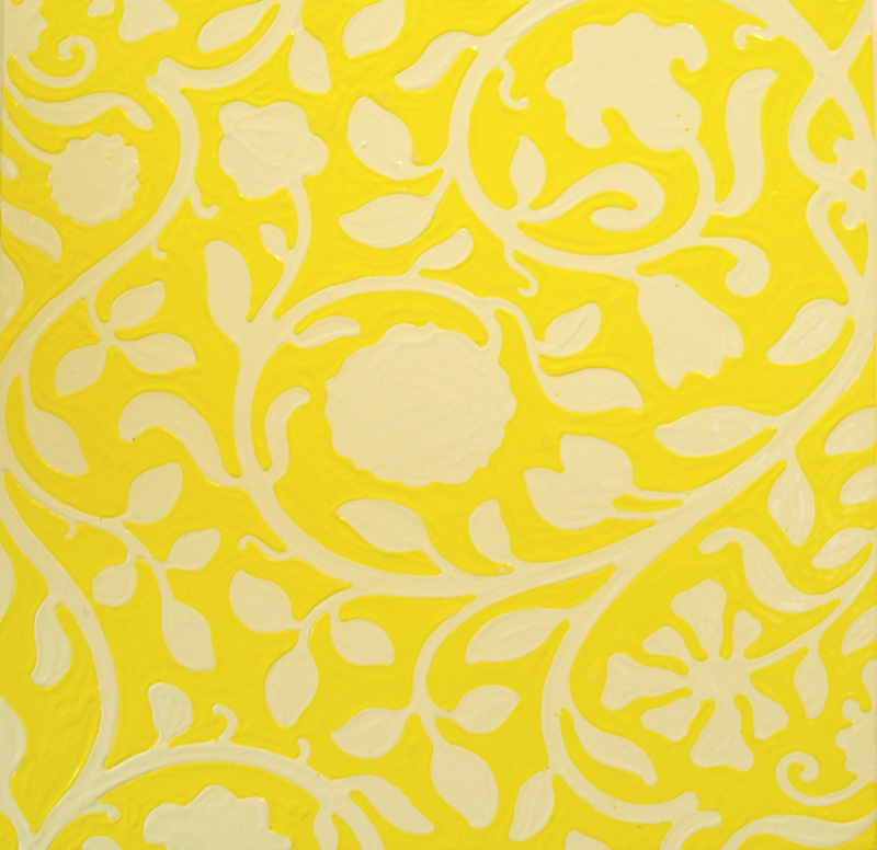 Sara Eichner   yellow vine and floral wallpaper For Sale at 1stdibs 800x776