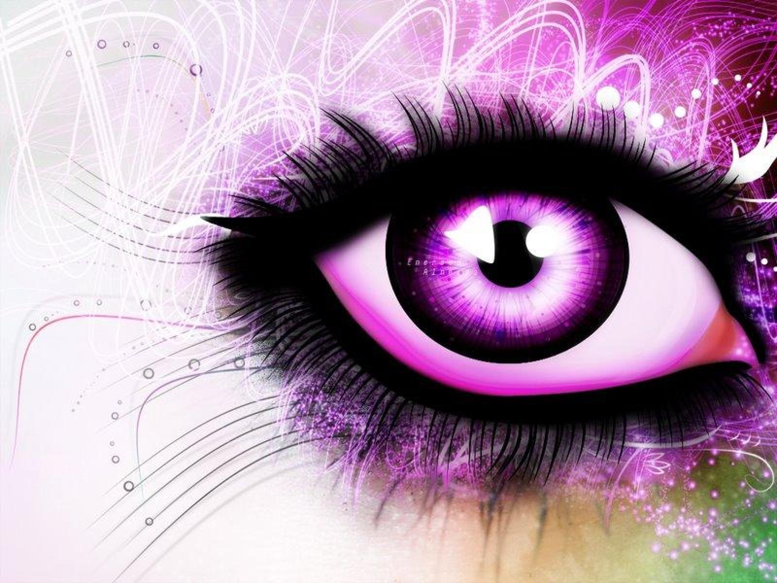 purple eye purple rain drops purple ray of lights purple 1600x1200