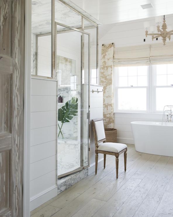 Shiplap Shower Frame   Transitional   Bathroom   John Hummel 592x740