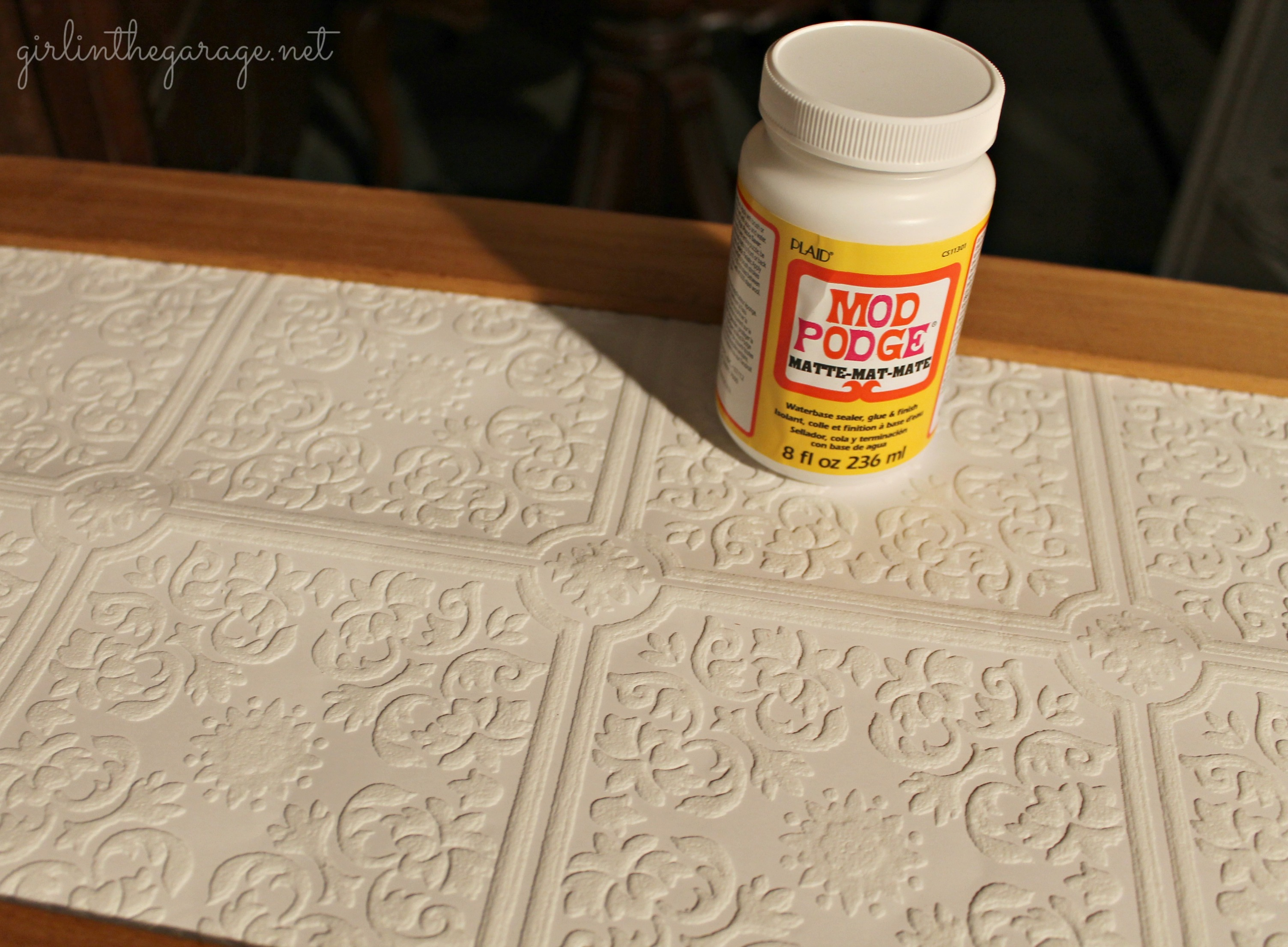 with paintable wallpaper Annie Sloan Chalk Paint and spray paint 3007x2212