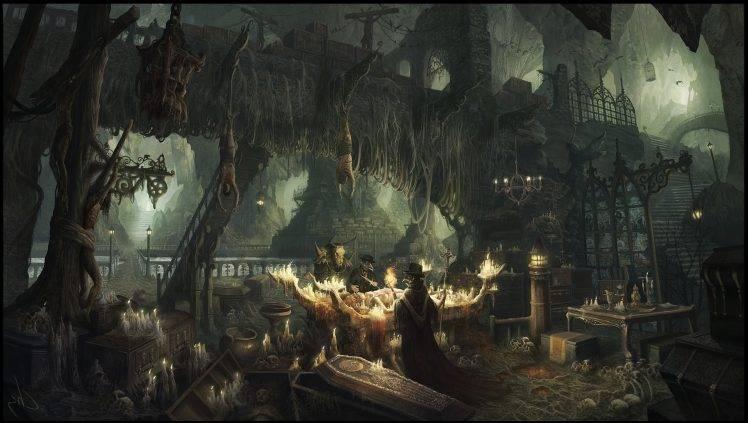 artwork Fantasy Art Plague Doctors Horror Wallpapers HD 748x423