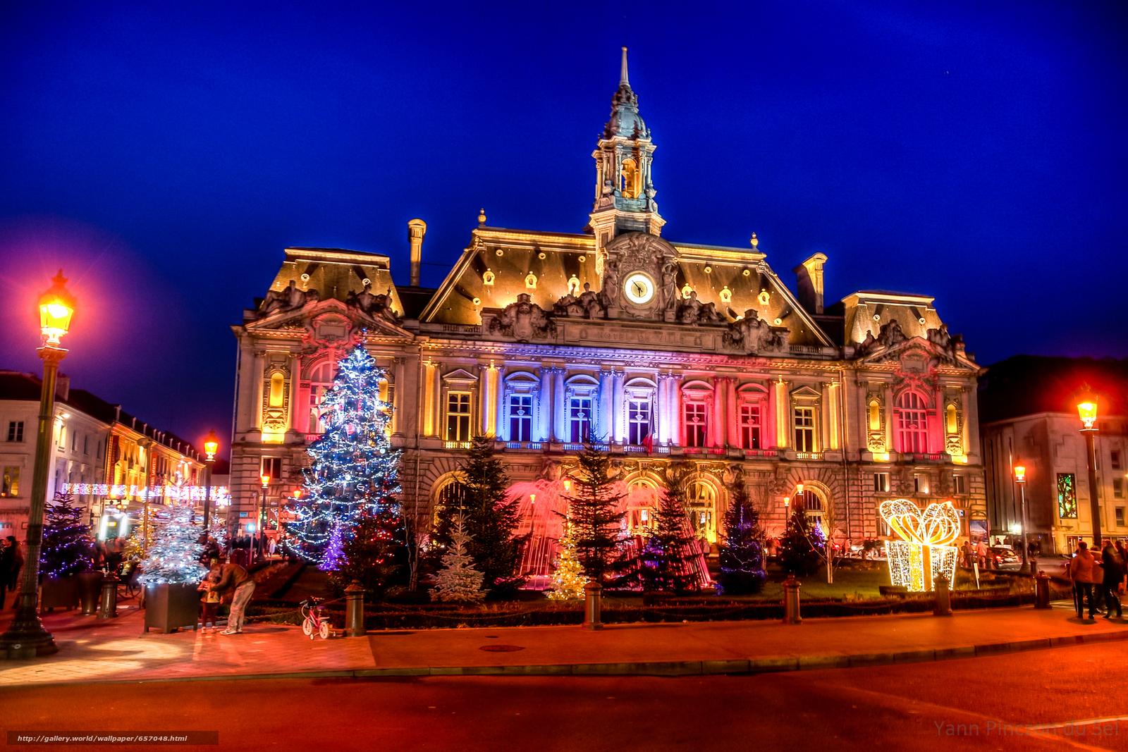 Download wallpaper Ville de tour France city night 1600x1067