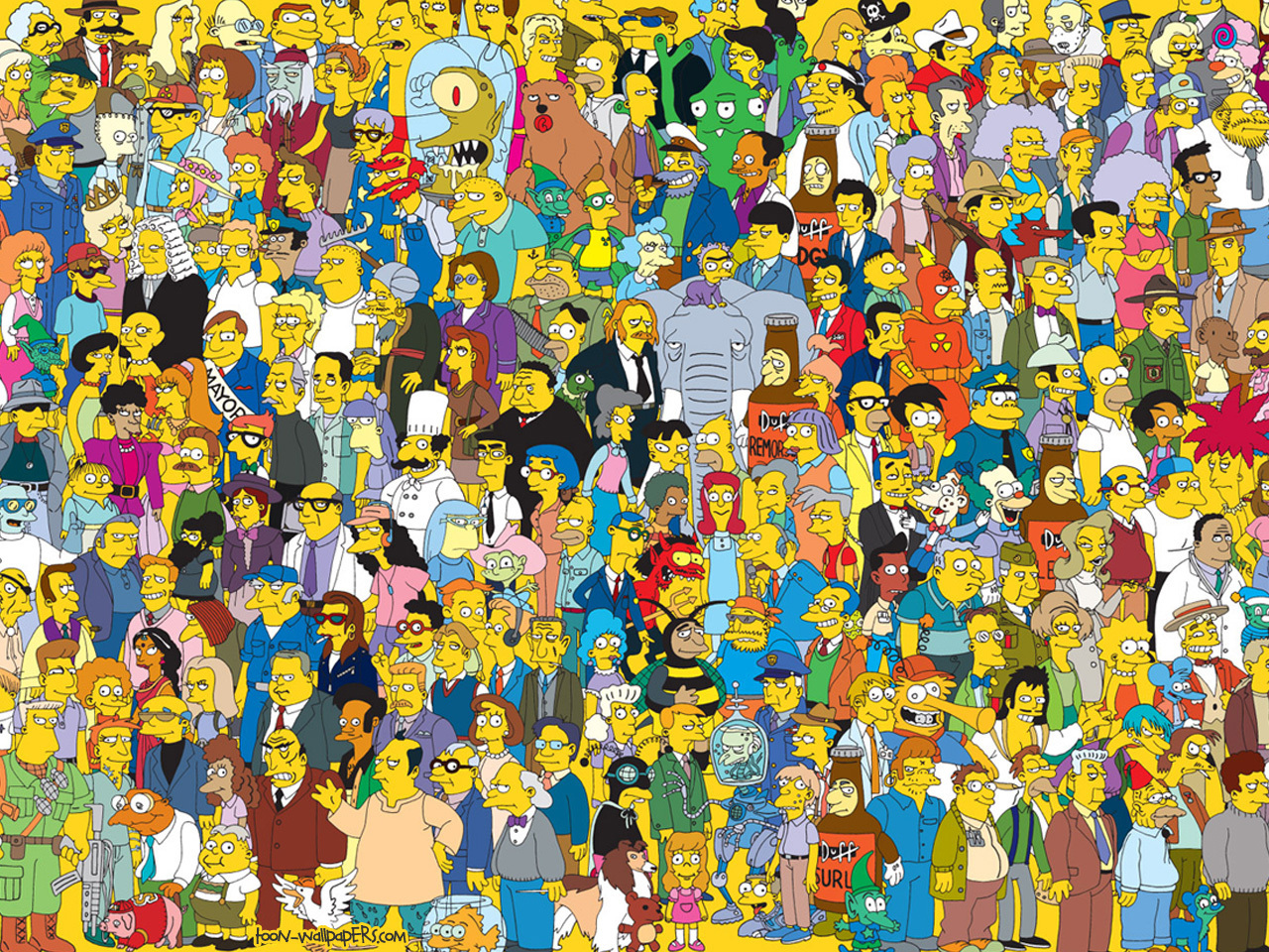 The Simpsons The Simpsons Wallpaper 6344993 1280x960