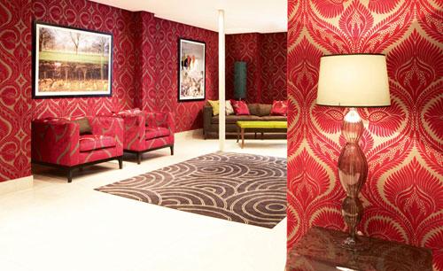 Osborne Little Stoff und Tapeten Design Dryden als Raum Dekoration 500x306