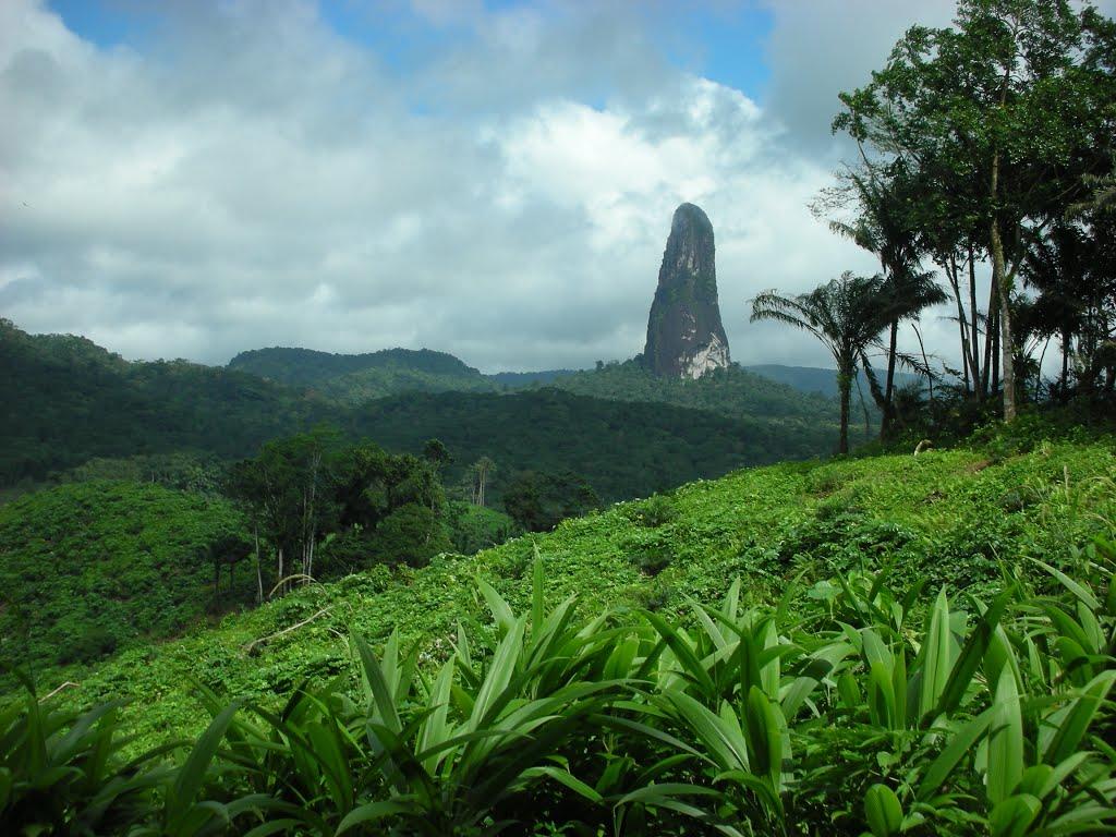 peak in the jungle sao tome principe islands EarthPornorg 1024x768