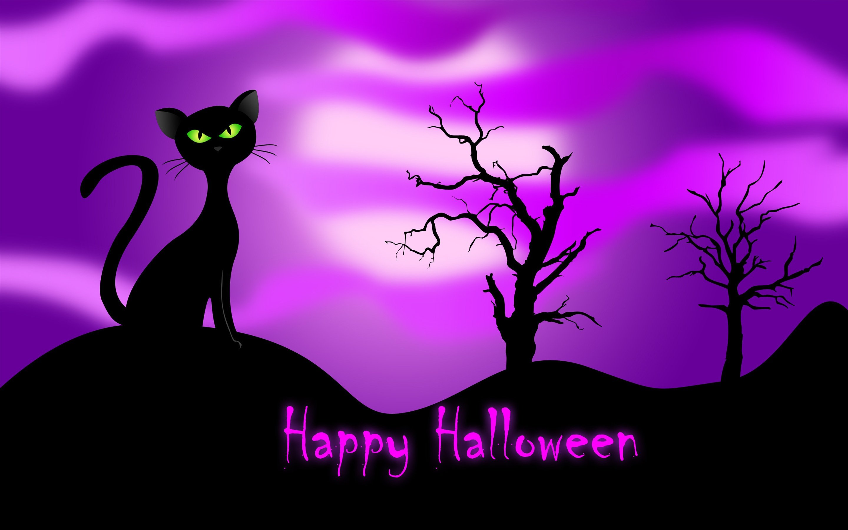 Free Download Happy Halloween Trees Black Cat Fall Purple Hd Wallpaper 1579264 2880x1800 For Your Desktop Mobile Tablet Explore 48 Purple Halloween Wallpapers Purple Halloween Wallpapers Halloween Wallpapers Background Halloween