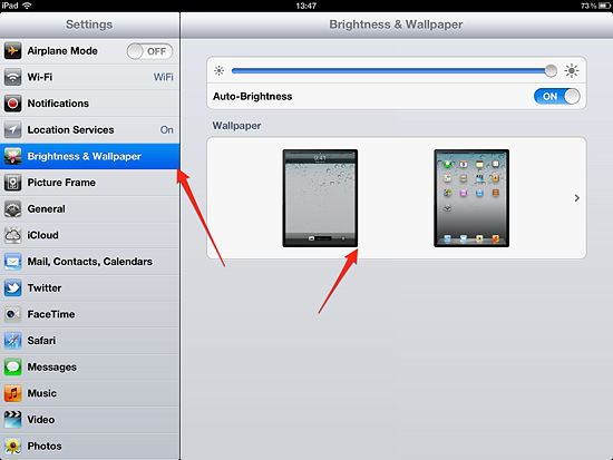 How to Change the Lock Screen and Wallpaper for iPad iPad Wallpaper 550x413