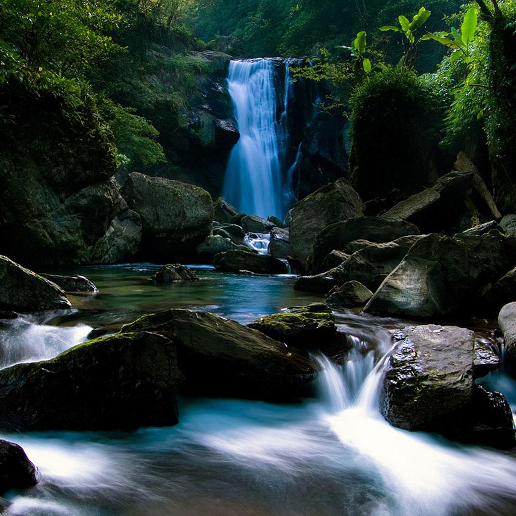 Waterfall HD wallpaper 1024x1024