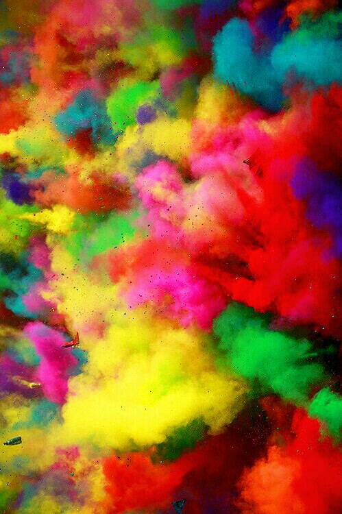 background color run colorful explosion powder rainbow wallpaper 499x750