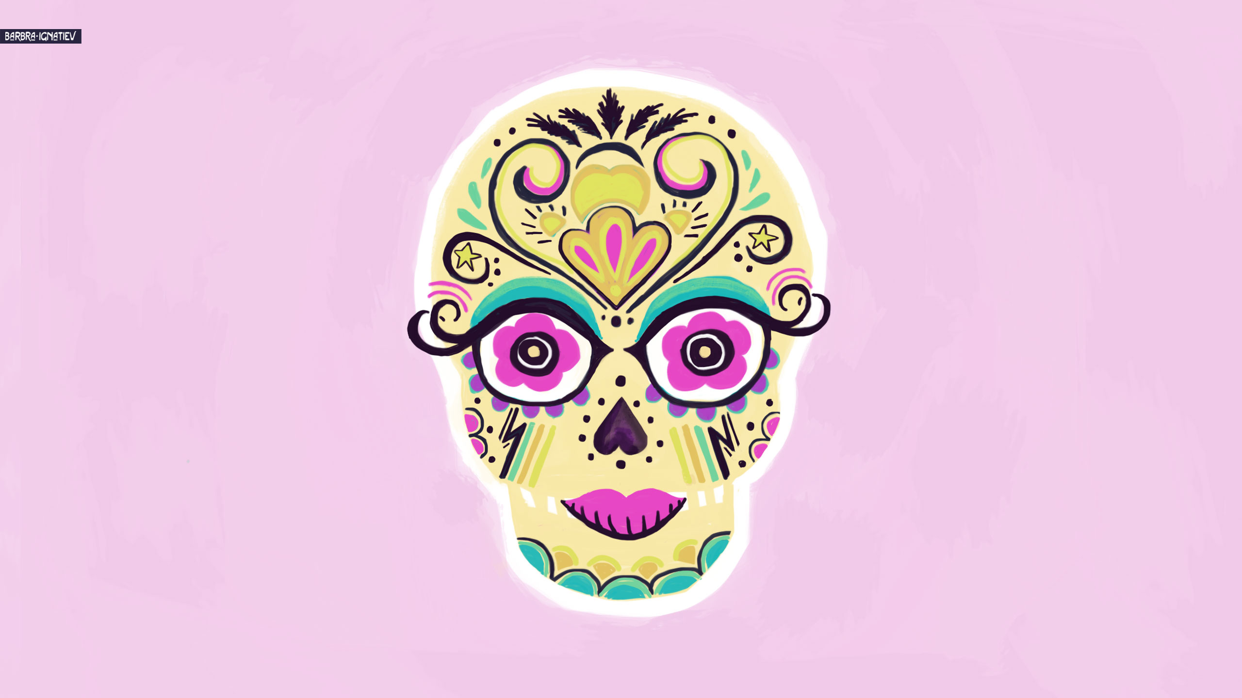 Sugar Skull Art Sugar Skull Desktop Wallpaper Sugar Skull 2560x1440