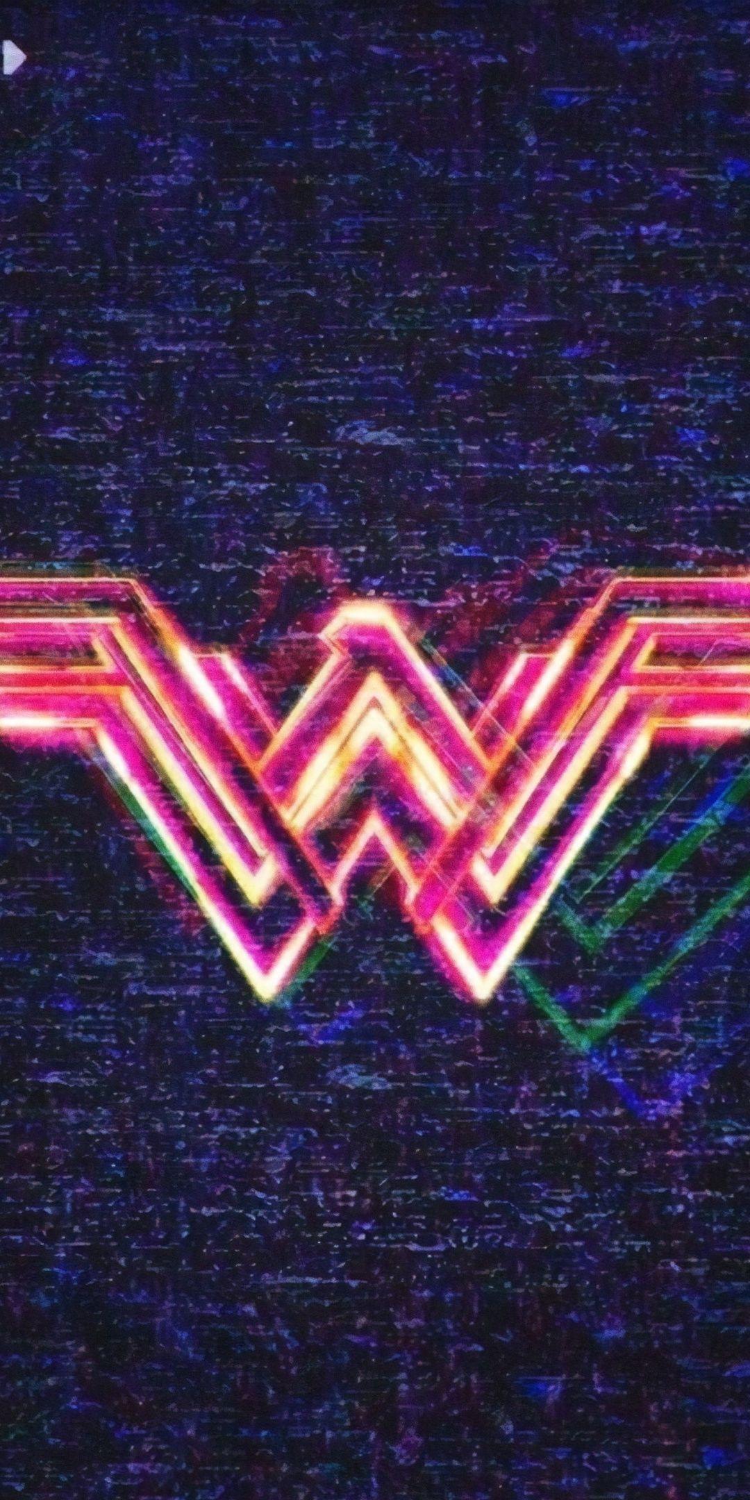 1080x2160 Wonder Woman 1984 movie logo poster wallpaper 1080x2160