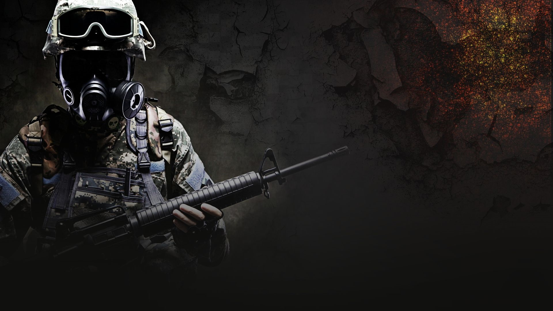 Download wallpaper for 1600x900 resolution CS GO soldier 1920x1080
