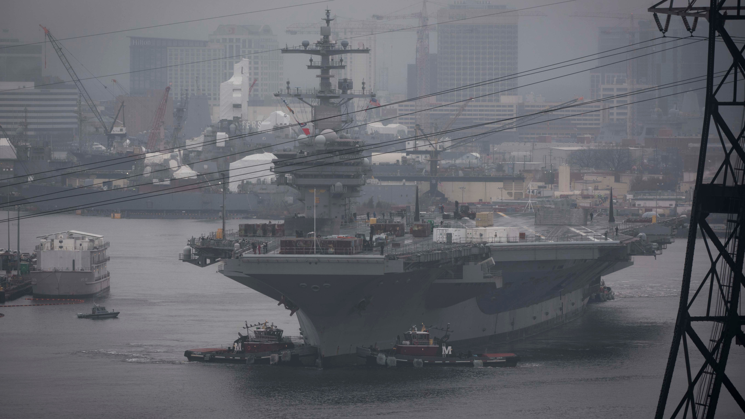 Aircraft carrier maintenance includes 3D printing upgrade 2560x1440