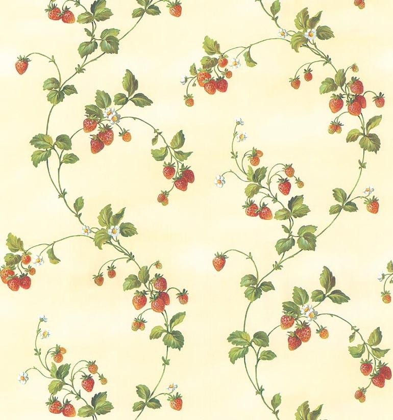 Details about KITCHEN WILD STRAWBERRIES Wallpaper KT19130 770x824