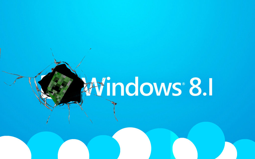 Windows Offical 81 Creeper Backround by TimmehTehTARDIS 1024x640