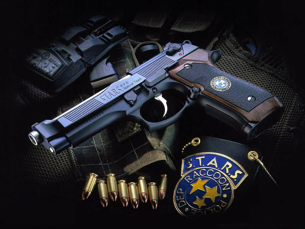 Download Wallpaper set a police gun badge bullets   1024x768 1024x768