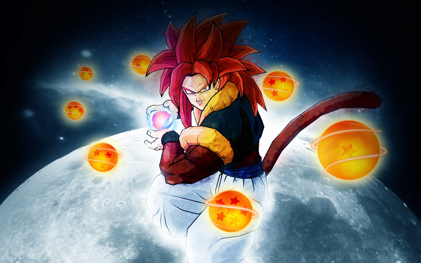 Gogeta ssj4 wallpapers wallpapersafari - Dragon ball gt goku wallpaper ...