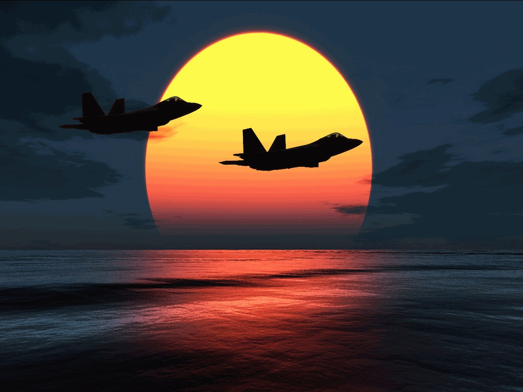 22 Raptors Over Sunset HD Wallpaper ImageBankbiz 1024x768