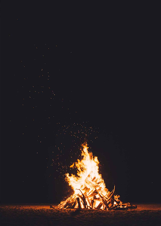Amazoncom MME 5x7Ft Bonfire Backdrop Campfire Black Background 1071x1500