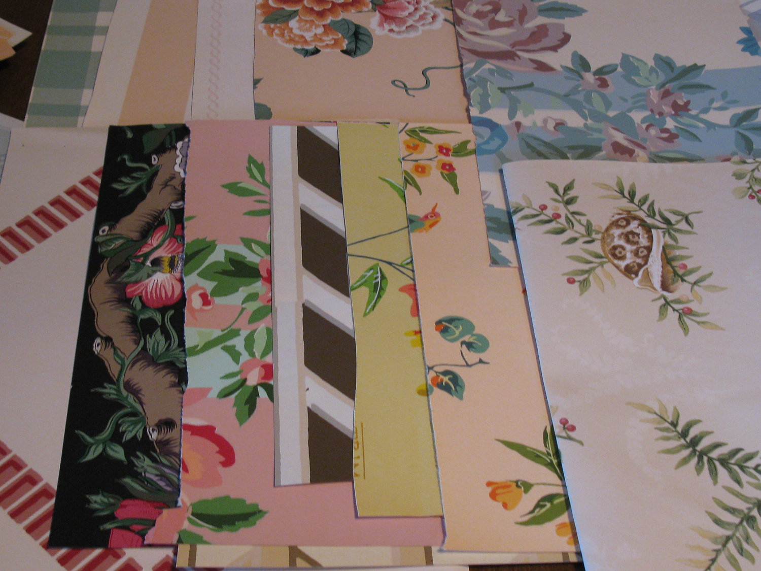 50 Vintage Wallpaper Samples Shabby French Inspired COLLECTION A 1500x1125