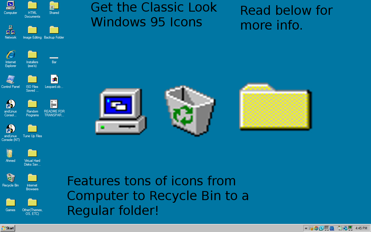 Free Download Windows 95 Icons By Sephiroth121 Customization