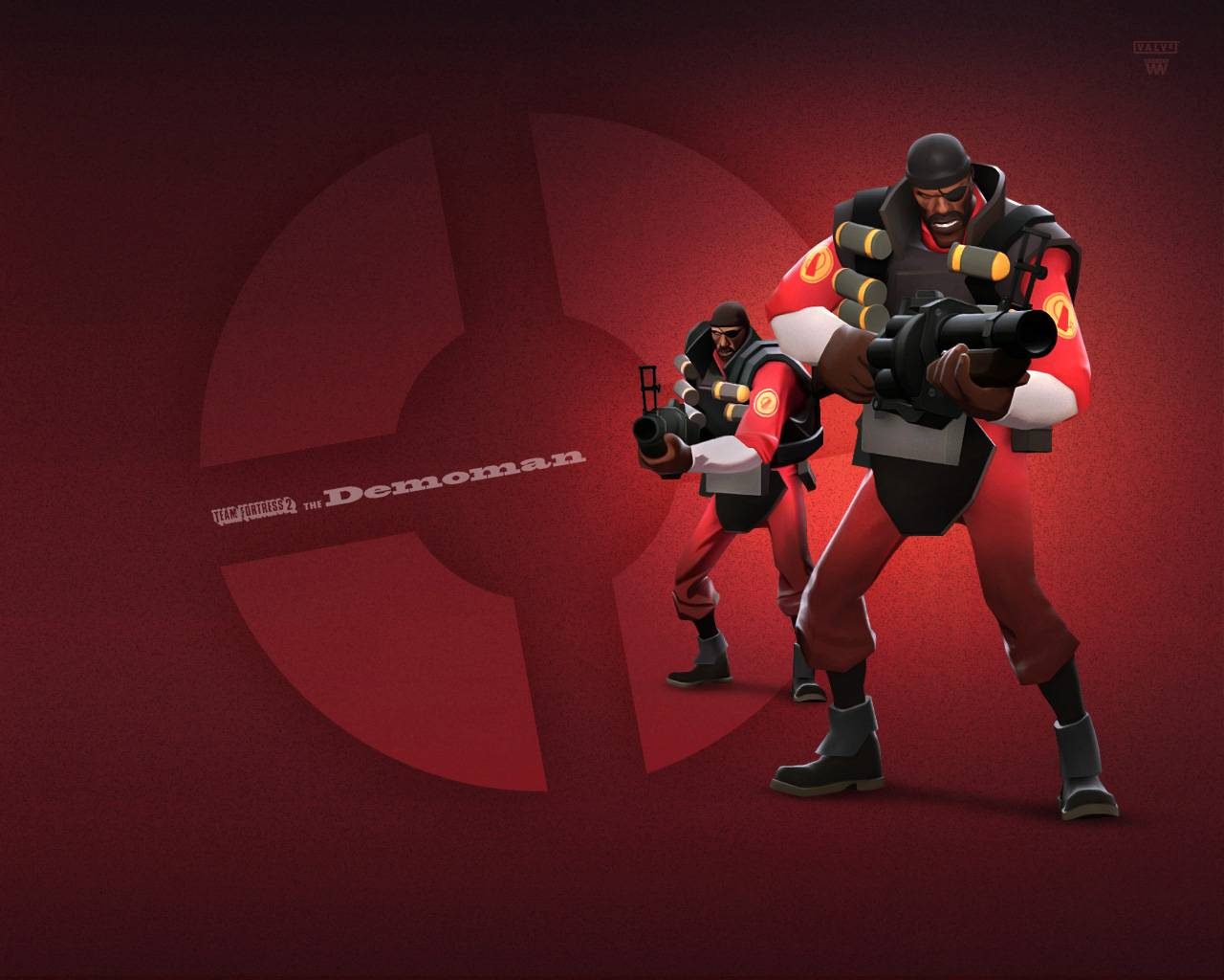 download Team Fortress 2 Red Demoman Team Fortress Wallpaper 1280x1024