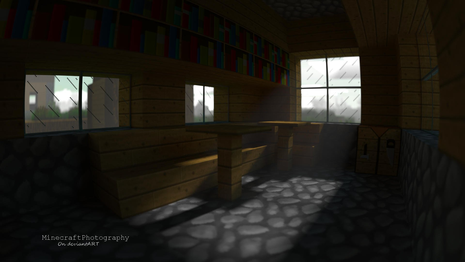Village Room Minecraft Render and Wallpaper by MinecraftPhotography 1920x1080