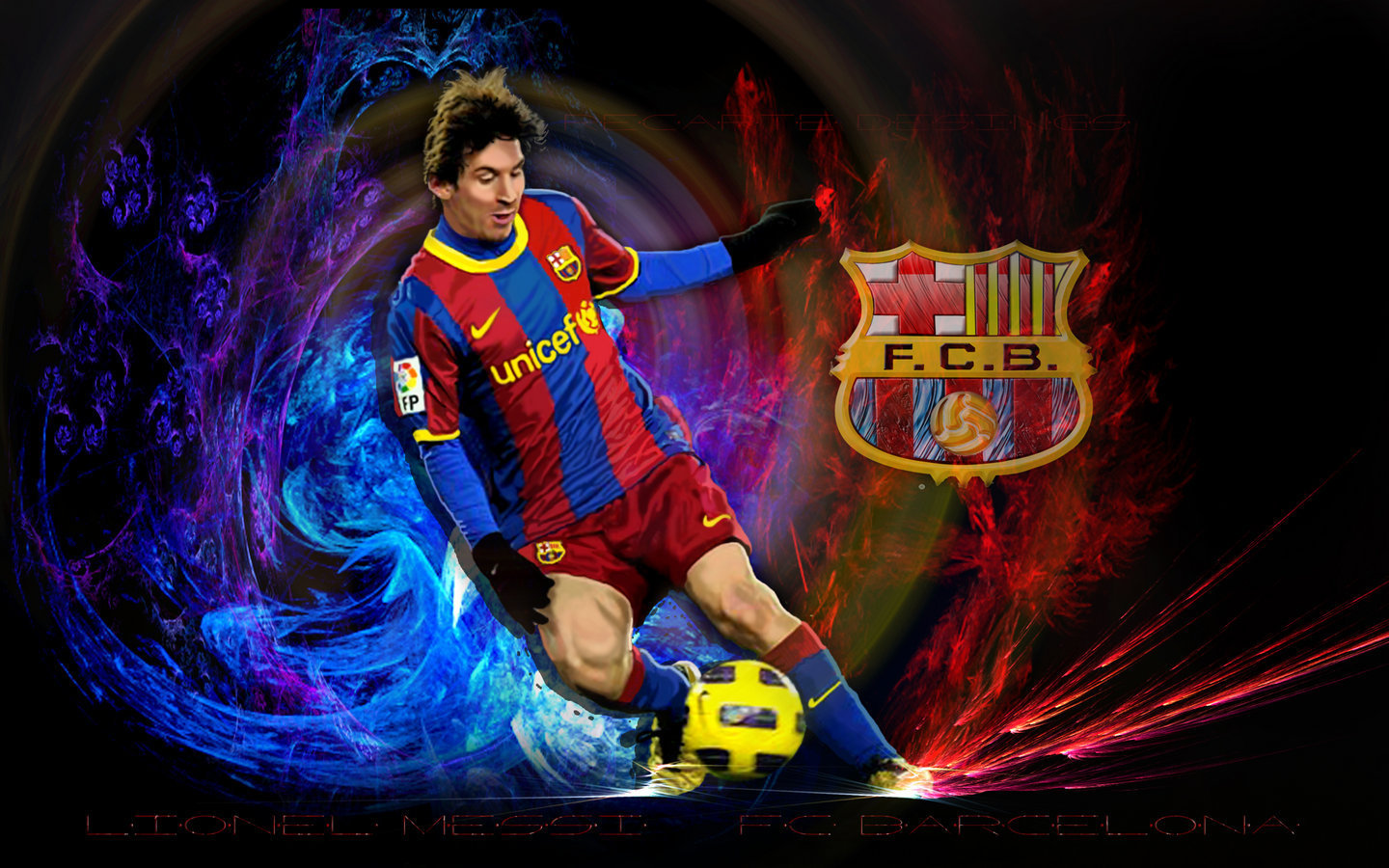 Lionel Messi FC Barcelona Wallpaper   Lionel Andres Messi Wallpaper 1440x900
