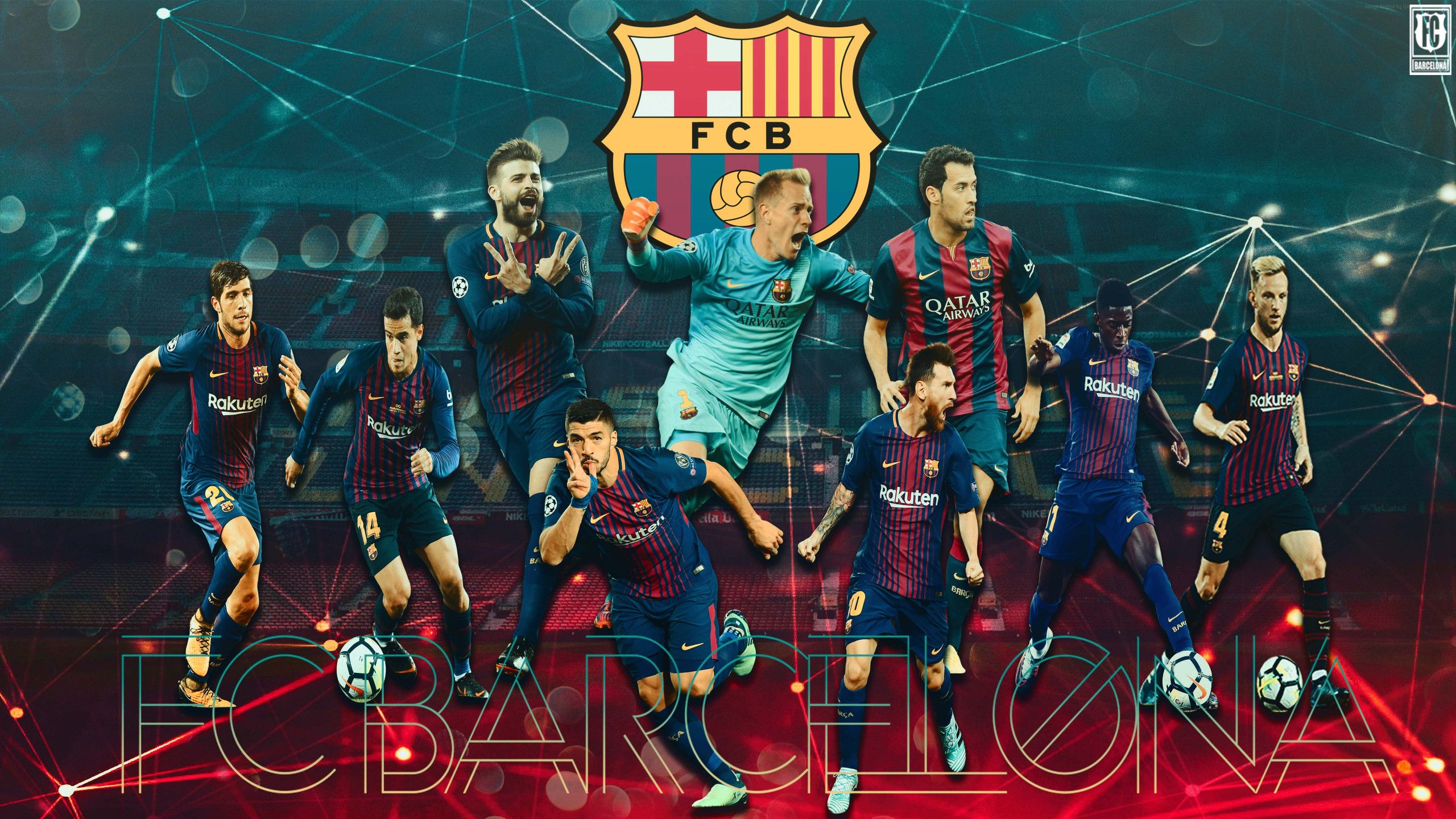 Download wallpaper FC Barcelona 2560x1440 2560x1440