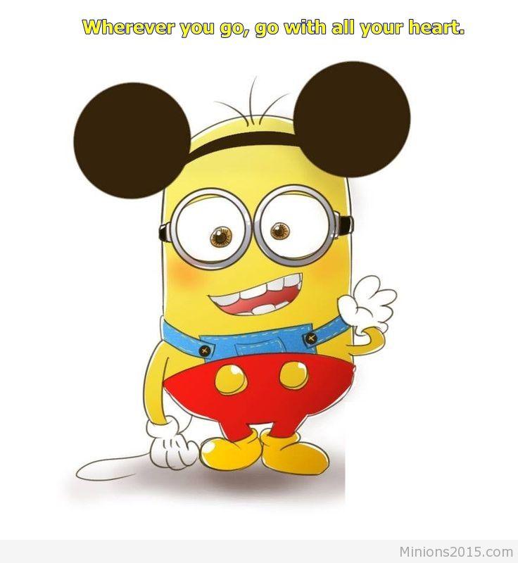Funny Minion Mouse wallpaper 736x800