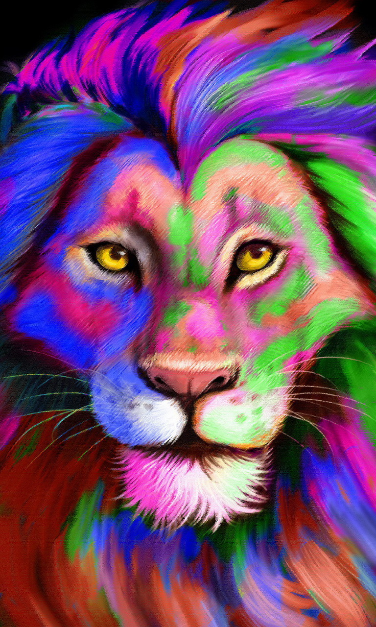 Rainbow Lionjpg phone wallpaper by twifranny 768x1280