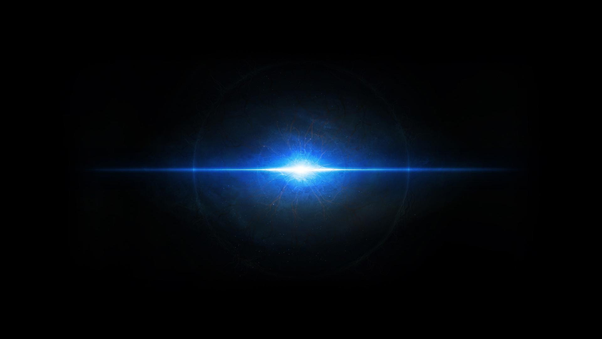 Blue space light in dark universe   Space Wallpapers   Hi Wallpapers 1920x1080